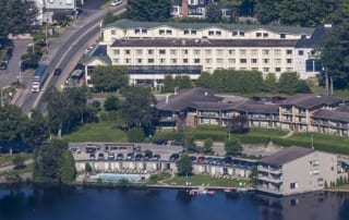 aerial view of Summit hotel